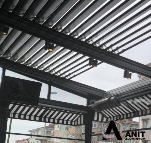 motorlu alüminyum tavanRolling Roof